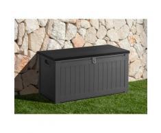 garten gut Auflagenbox, 190 Liter grau Garten- Kissenboxen Gartenmöbel Gartendeko Auflagenbox