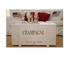 Uncle Joe´s Truhentisch Champagne weiß Holz-Beistelltische Holztische Tische Tisch
