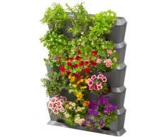 GARDENA Pflanzkübel NatureUp, 13151-20, Set-Vertikal mit Bewässerung grau Pflanzgefäße Blumenvasen Wohnaccessoires