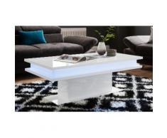 Couchtisch, wahlweise mit RGB-Beleuchtung (batteriebetrieben) weiß Couchtisch Couchtische Tische Möbel sofort lieferbar