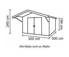 Nordic Holz Gartenhaus, Viljandi 484, (Set) beige Gartenhäuser Garten Balkon