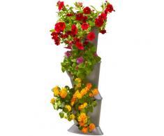 GARDENA Pflanzkübel NatureUp, 13153-20, Basis-Set Ecke grau Pflanzgefäße Blumenvasen Wohnaccessoires