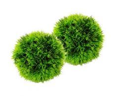 I.GE.A. Kunstpflanze Kugel Zyperngras, 2er Set grün Künstliche Zimmerpflanzen Kunstpflanzen Wohnaccessoires