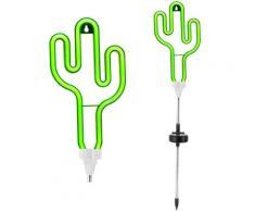 Pauleen LED Gartenleuchte Sunshine Cactus, 1 St., Solarbetrieben, Erdspieß grün LED-Lampen LED-Leuchten SOFORT LIEFERBARE Lampen Leuchten