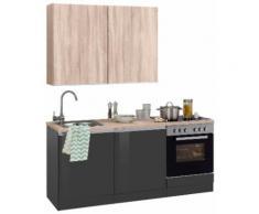 HELD MÖBEL Küchenzeile Ohio, ohne E-Geräte, Breite 180 cm grau Küchenzeilen Geräte -blöcke Küchenmöbel
