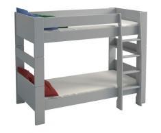 STEENS Etagenbett FOR KIDS, mit Leiter, in verschiedenen Farben grau Kinder Kinderbetten Kindermöbel