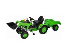 BIG Trettraktor mit Frontlader und Anhänger BIG-Jim-Loader und Trailer, grün, Unisex, grün-schwarz