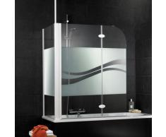 Schulte Badewannenaufsatz Liane, Dekor liane weiß Duschwände Duschen Bad Sanitär