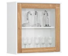 Home Affaire Hängevitrine Rondo mit einer Glastür und einem Einlegeboden aus Massivholz Breite 65 cm, weiß, weiß/natur