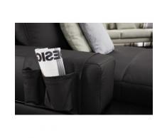 ADA trendline Polsterauflage Ruben, der Echtleder- Organizer für das Sofa schwarz Zubehör Polstermöbel Möbel Polsterauflagen