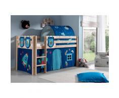 Vipack Hochbett Pino, wahlweise mit Rutsche blau Betten Möbel Aufbauservice