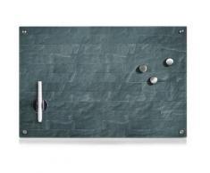 Zeller Present Magnettafel Stonewall, Memoboard, aus Glas, Stein Motiv grau Büroaccessoires Wohnaccessoires