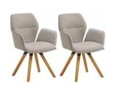 NIEHOFF SITZMÖBEL Armlehnstuhl Merlot 2632-47, Gestell aus massivem Eichenholz, 2er Set blau 4-Fuß-Stühle Stühle Sitzbänke