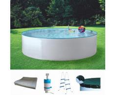 MyPool Rundpool Standard (Set) weiß Swimmingpools Pools Planschbecken Garten Balkon