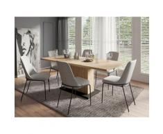 Homexperts Essgruppe Aiko, (Set, 5 tlg., Esstisch mit 4 Stühlen), Tisch Auszugsfunktion, Breite 160-200 cm schwarz Essgruppen Tische