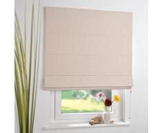 Liedeco Raffrollo, mit Klettschiene, freihängend beige Wohnzimmergardinen Gardinen nach Räumen Vorhänge Raffrollo