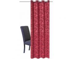 HOME WOHNIDEEN Vorhang LENNY, HxB: 245x140, Dekostoff Jacquardgemustert rot Wohnzimmergardinen Gardinen nach Räumen Vorhänge
