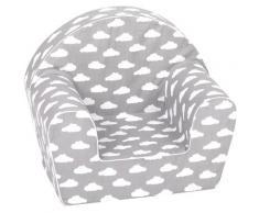 Knorrtoys Sessel Grey white clouds grau Kinder Kindersessel Kindersofas Kindermöbel