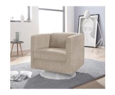 INOSIGN Sessel »Bob« drehbar mit Tellerfuß, Struktur
