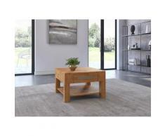 Woltra Couchtisch Kolding, Massivholz mit Schublade braun Couchtische Tische Möbel sofort lieferbar