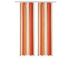 my home Vorhang Gosen, Gardine, Fertiggardine, blickdicht orange Wohnzimmergardinen Gardinen nach Räumen Vorhänge