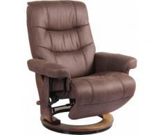 Alpha Techno Relaxsessel AT 2127, High End 6-Punkt Schwingungsfrequenz Massage, Intensität individuell einstellbar braun Sessel Wohnzimmer