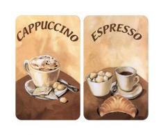 WENKO Herd-Abdeckplatte Kaffee, (Set, 2 tlg.), kratzfest braun Küchenaccessoires Wohnaccessoires