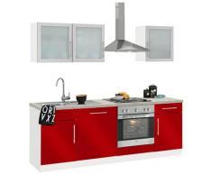 wiho Küchen Küchenzeile Aachen rot Küchenzeilen ohne Geräte -blöcke Küchenmöbel Arbeitsmöbel-Sets