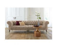 Guido Maria Kretschmer Home&Living Chesterfield-Sofa Tinnum beige Chesterfieldsofas Einzelsofas Sofas Couches