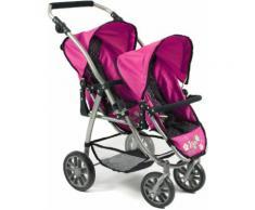 "CHIC2000 Puppen-Zwillingsbuggy ""VARIO navy-pink"", rosa, Damen, pink-navy"