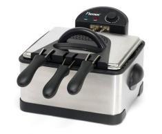 bestron Fritteuse DF402B, 2000 Watt silberfarben Haushaltsgeräte Elektrogeräte