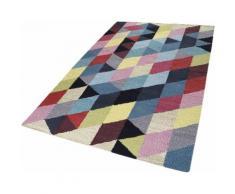 Teppich Rainbow Triangel Esprit rechteckig Höhe 5 mm handgewebt, blau, Neutral, blau