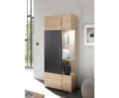Places of Style Vitrine Space Höhe 170 cm, grau, Artisan Dekor/Artisan Dekor, Absetzung Grey Perfect Touch
