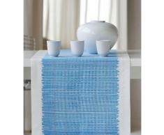 Tischläufer, 3033 Loft Bambusmatte, APELT (1-tlg.) blau Tischläufer Tischwäsche Tischdecken