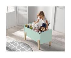Vipack Spielzeugtruhe Kiddy, MDF-Oberfläche grün Kinder Kindermöbel Möbel sofort lieferbar
