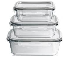 MAXXMEE Frischhaltedose, (Set, 6 tlg.) farblos Frischhaltedose Aufbewahrung Küchenhelfer Haushaltswaren