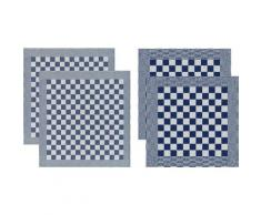 DDDDD Geschirrtuch Barbeque (Set, 4-tlg.) blau Aufbewahrung Küchenhelfer Haushaltswaren Geschirrtücher