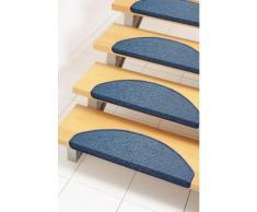 Stufenmatte Bob Andiamo stufenförmig Höhe 45 mm maschinell getuftet, blau, blau