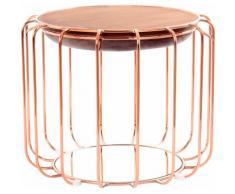 Kayoom Beistelltisch / Pouf Comfortable 110, als und Hocker nutzbar lila Beistelltische Tische
