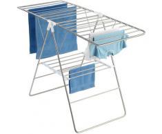 WENKO Wäscheständer Flex silberfarben und Wäschespinnen Wäschepflege Haushaltswaren