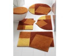 Badgarnitur in außergewöhnlicher Form orange Gemusterte Badematten