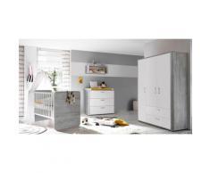 Babyzimmer-Komplettset Aarhus (Set, 3-tlg) grau Baby Babyzimmer Babymöbel-Serien Babymöbel Schlafzimmermöbel-Sets