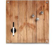 Zeller Present Magnettafel Wood, Memoboard, aus Glas, Holz Motiv braun Büroaccessoires Wohnaccessoires