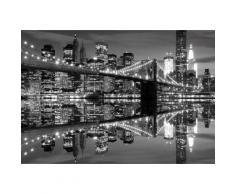 Fototapete New York Stadt, schwarz, schwarz