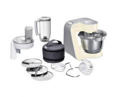 BOSCH Küchenmaschine MUM5 CreationLine MUM58920, vielseitig einsetzbar, Durchlaufschnitzler, 3 Reibescheiben Mixer, vanille/silber beige Multifunktionsküchenmaschinen Küchenmaschinen Haushaltsgeräte ohne Kochfunktion