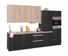 HELD MÖBEL Küchenzeile Ohio EEK D grau Küchenzeilen mit Geräten -blöcke Küchenmöbel Arbeitsmöbel-Sets