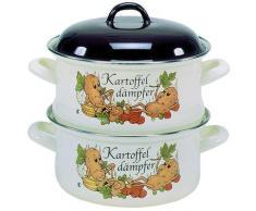 Krüger Dampfgartopf KARTOFFEL, Emaille, (1 tlg.) braun Gemüsetöpfe Töpfe Haushaltswaren
