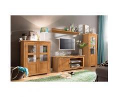 Home affaire Wohnwand Laura, (Set, 3 St.), mit 1 Vitrine, TV-Lowboard und Highboard beige Wohnwände