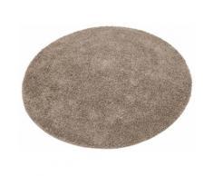 Home affaire Hochflor-Teppich Shaggy 30, rund, 30 mm Höhe, gewebt, Wohnzimmer braun Schlafzimmerteppiche Teppiche nach Räumen