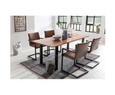 SalesFever Essgruppe, (Set, 5 St.), mit modernem Holztisch Kufengestell, 160 cm braun Essgruppen Tische Essgruppe